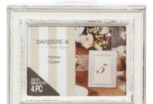 """David Tutera Home Accessories / Comprised of pictures frames, wall art, decorative mirrors and home storage products designed to """"Capture the moment for a lifetime."""""""