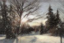 Digital pastel paintings