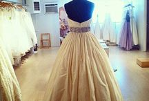 Atelier / Pictures of dresses from our own atelier, handmade by true craftspeople in USA right here in NYC.