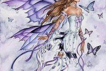 ангелы ,феи, бабочки