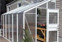 Lean-To Greenhouses / Lean-to greenhouses are attached to existing structures, such as your home or garage. This proximity allows you direct access to your plants from the building you attach it to. Sometimes it is easier to access utilities such as gas lines, plumbing and electrical when the greenhouse structure is so close by.