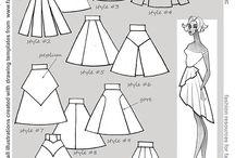 skirt -pattern/styles/tutorials