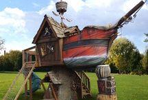 Pirate ship / Look at this AMAZING Pirate ship backyard playground.
