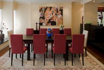 Dining Room Design and Decor / Interior design and decor of dining rooms painted by Sherwood Painting.