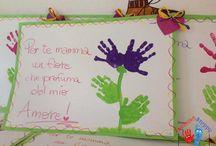 Bambini dell'infanzia disegnano i sognino sogno