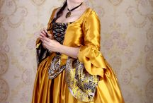 Rococo Gold Dress / 18th century dress