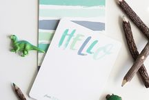 Stationery Flat Lays
