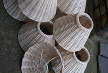 Papirové pletení lampy