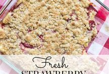 Summer / Strawberry crumble