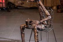 My Art work / Assemblage sculptures