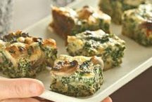 Quiche, fritters