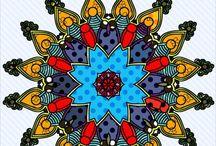 Mandala de color fly