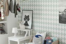 Papel pintado rombos · Diamond wallpaper