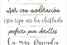 Letras caligrafia