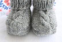 Knitted Baby booties/hats / by Bonnie Bouchard Anderson
