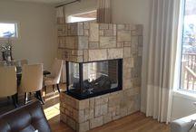 119 Lake Bend / Showhome featuring Montigo H38PFNI Peninsula Fireplace