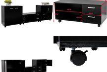 Living Room Furniture Cupboard Sideboard Cabinet Storage Unit 3 Piece Set Home