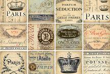 Vintage etiketten