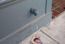 Street Chalk Art - David Zinn