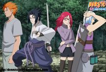 Team Hebi and Taka / Group of different people with incredible powers united by Sasuke Uchiha to help him achive his revenge. Suigetsu nice and funny guy from the hidden mist village. He is able to turn into water, great figter and sword collecter. He is the best of the team according to me. Jugo is kind guy who possess the power to change into untamed beast with bloodlust. Karin the redhead fungirl of Sasuke and sencor ninja. She is an annoying girl with anger issues towards Suigetsu.