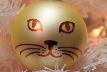 cat christmas ball