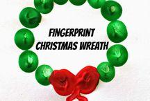 christmas - handprint footprint thumbprint crafts / Lots of Christmas handprint crafts, footprint crafts and more - snowmen, snowglobes, nativites, santa, wreath, candycane ......