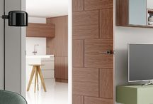 Walnut furniture / Doors from XL Joinery with Walnut veneers and other furniture ideas to match