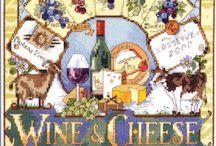 Cross Stitch - Food and Wine