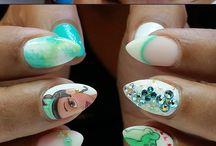 Disney princess nails art
