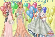 Happy Birthday LadyPopular! / Cards for our B-day made by the girls from the International version