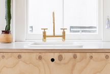 Ply cupboard and sink
