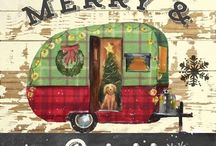 Christmas card of camper