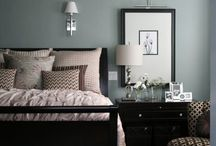 Dark furniture bedroom decoration