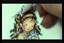 Colorisé les encres, les feutres et crayon