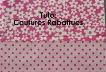 Couture rabattue