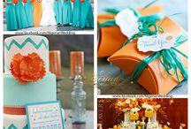 Orange Cyan Party Inspiration / by ALiCA DESiGN