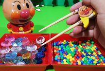 アンパンマン アニメ❤おもちゃ ステップアップ箸でチャレンジ!Anpanman toys