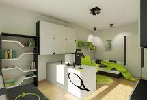 Teen Boys Room / Cool scientist/gamer room!