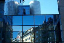Városi tükröződések01 & City mirrors01 / Budapesti objektumok épülettükörben