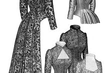 Victorian Bustle Dress Sewing Patterns ect.