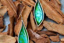 large enamel earrings /  earrings with cold enamel by Maramila!