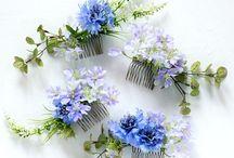 headdress / 髪飾り / 花モチーフの髪飾りは和洋兼用の髪飾りになるのも魅力のひとつ。和装でも洋花をまとえば、和モダンな花嫁に。ドレスにももちろん素敵です