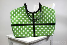 """Sew a Hobo Tote / Use the Hobo Tote Template to create a few of these great Hobo Tote bags.  Great variety and interesting color and fabric combinations.  Pinned by """"Sewing With Nancy"""" host, Nancy Zieman."""