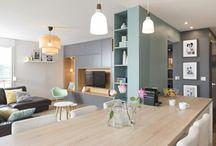 Salon +cuisine ouverte