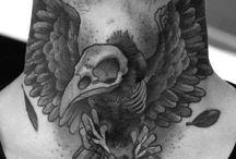 Neck Tattoos / http://fabulousdesign.net/back-neck-tattoos-men-women/