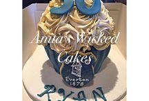 Everton large cupcake