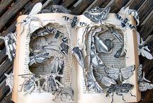 Beautiful book sculptures