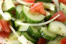 cukes salads / by Jennifer Rasmussen