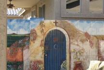 murals for garden wall