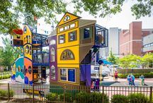 Museum Playground Ideas! / Playgrounds at museums feature various learning and play opportunities.